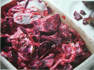 Beetroot, yogurt and preserved lemon relish