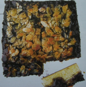 Blueberry and almond bar