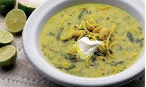 Legume noodle soup