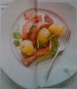 Home-smoked ribeye steak salad