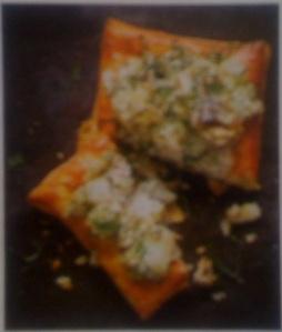 Mackerel and lovage tarts