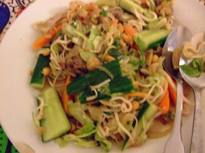 Blurry Vietnamese gristle salad