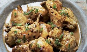 Chicken with rosemary and juniper