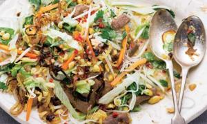 Warm Vietnamese beef salad