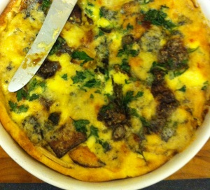 Jam and stilton quiche