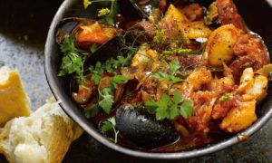 Fish and chorizo stew